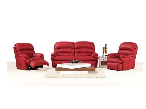 Terri Leather Lounge Recliner 3 piece package