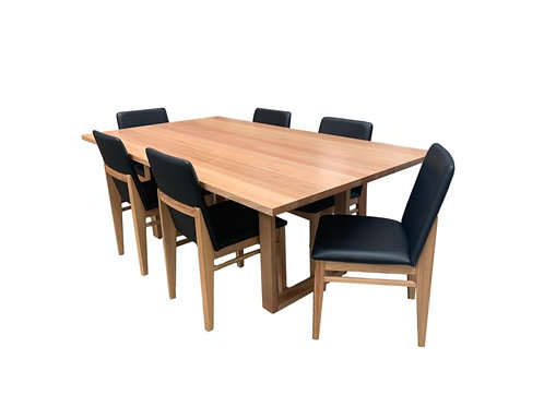 Sorrento Messmate Dining Table 2100 + 6 Atlantic Chairs