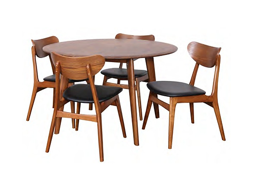 Belmont Fixed Round Table 1200 with 4 Finland Chairs