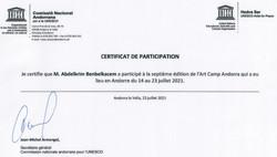 Certificat unesco