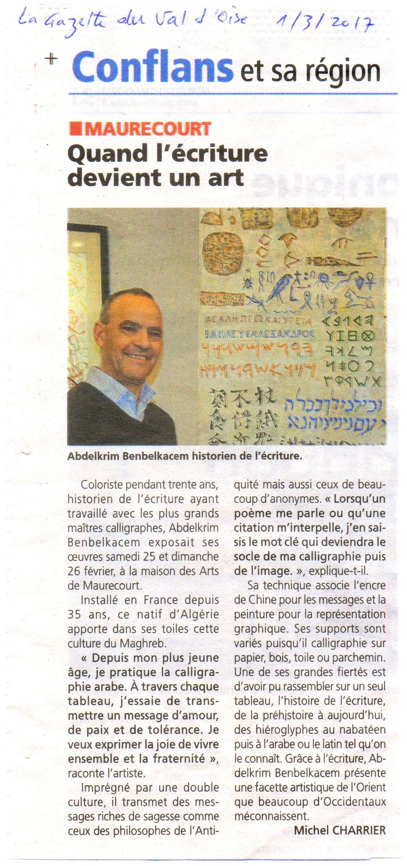 article la Gazette du Val d'Oise