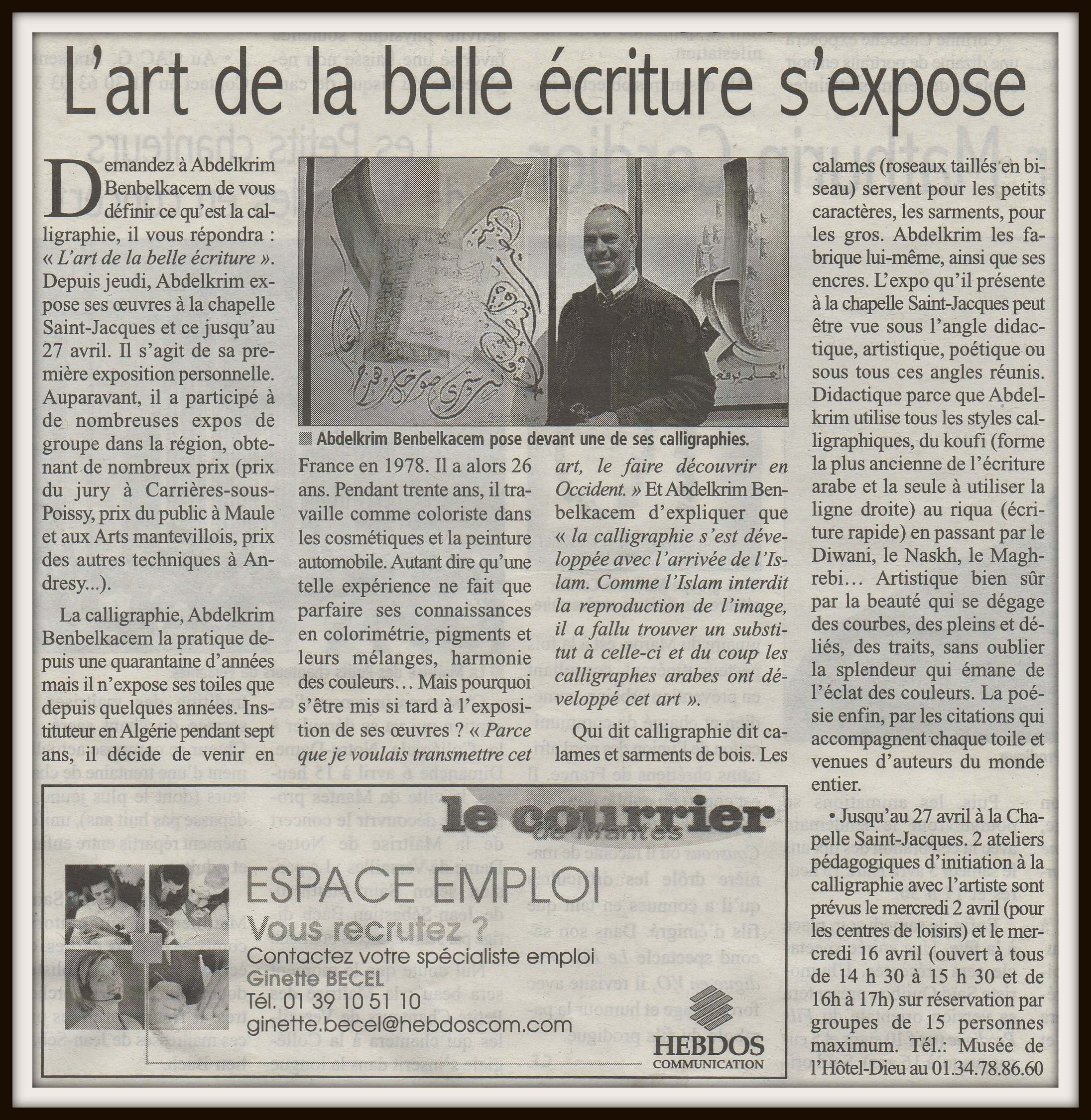 article le courrier de mantes 2.4.2014.jpg