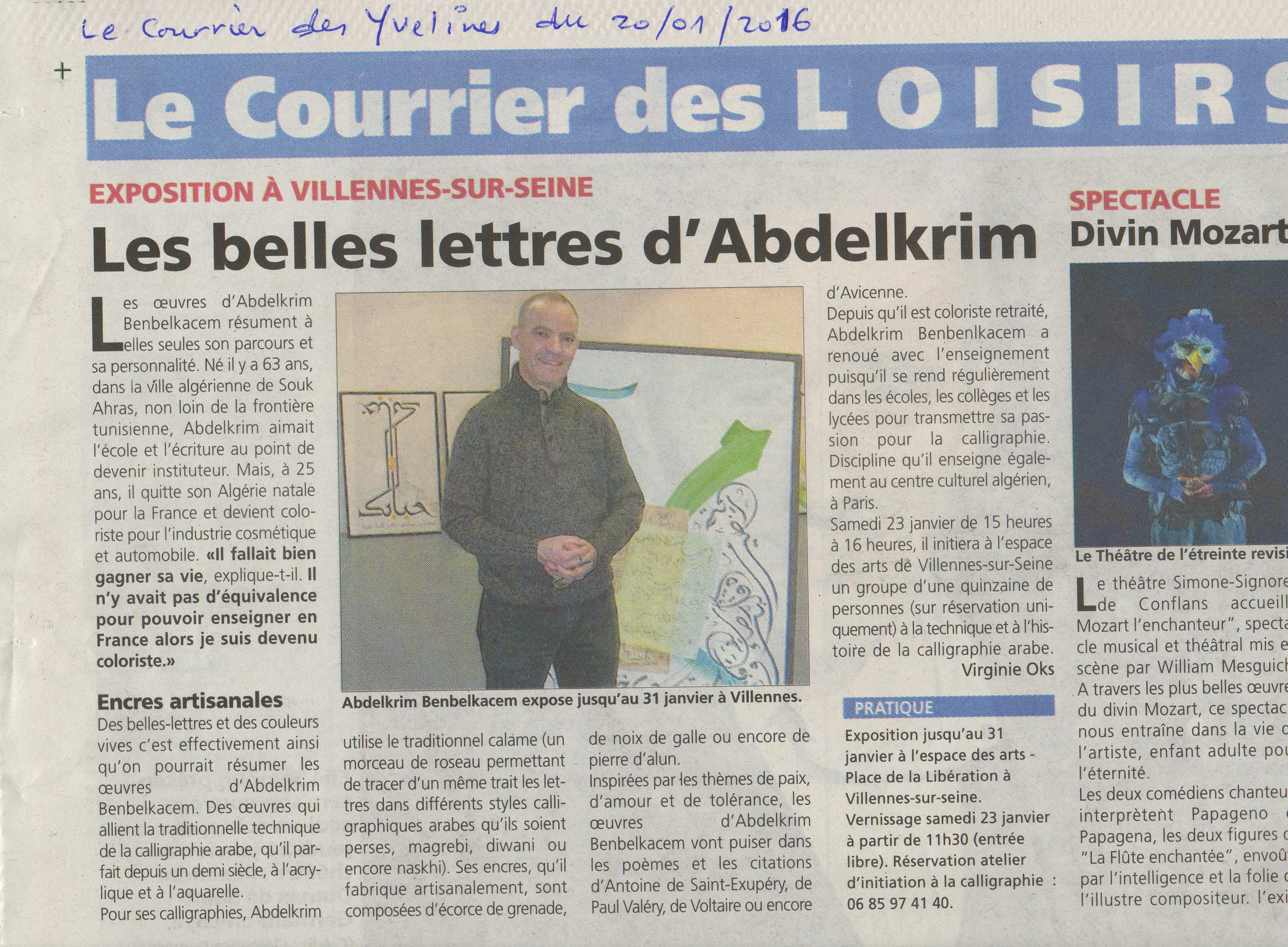 scan article le Courrier des Yvelines481