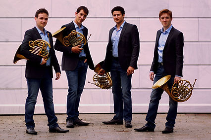 Quatuor HORNormes (Pierre Badol, Alexis Crouzil, Clément Charpentier-Leroy, Maxime Tomba)