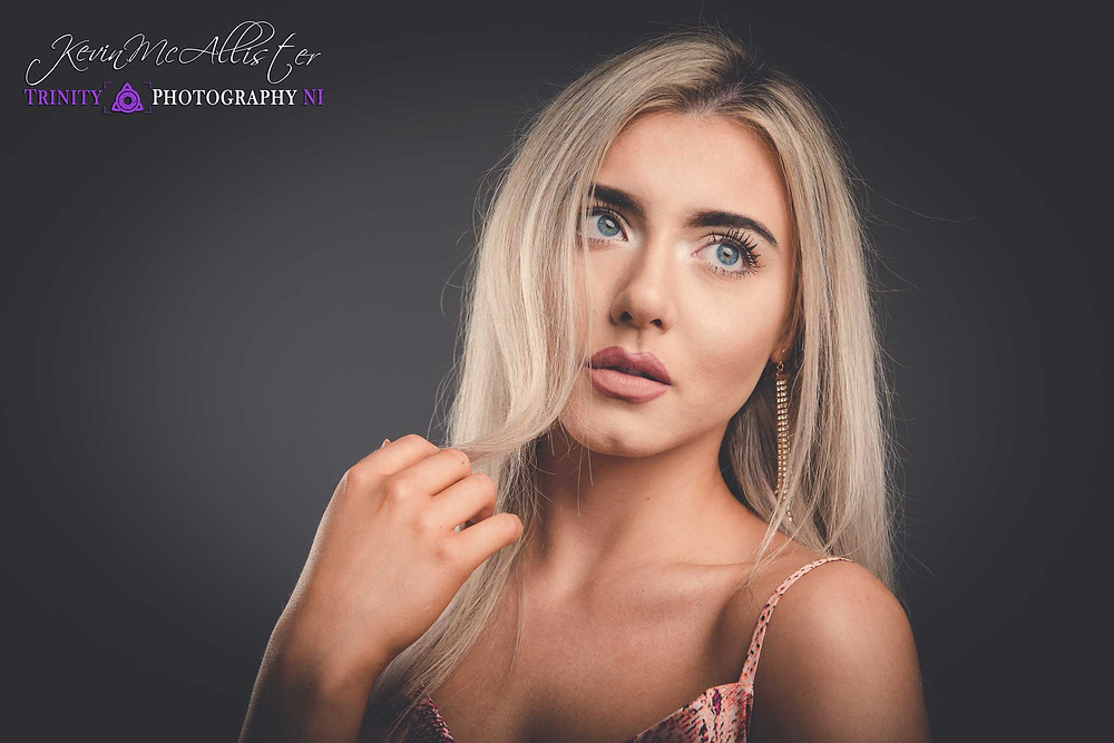 headshot portrait of girl model