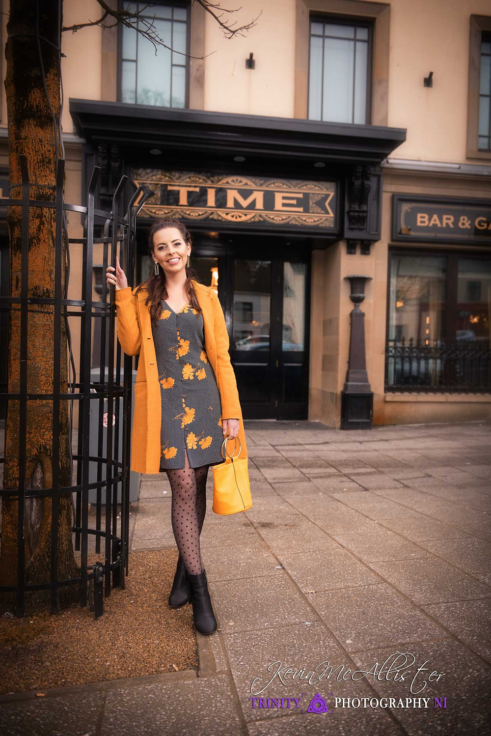 girl outside time bar cookstown