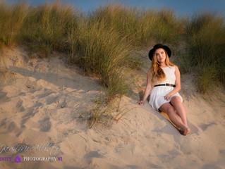 Beach shoot with Model Tarryn Shiels