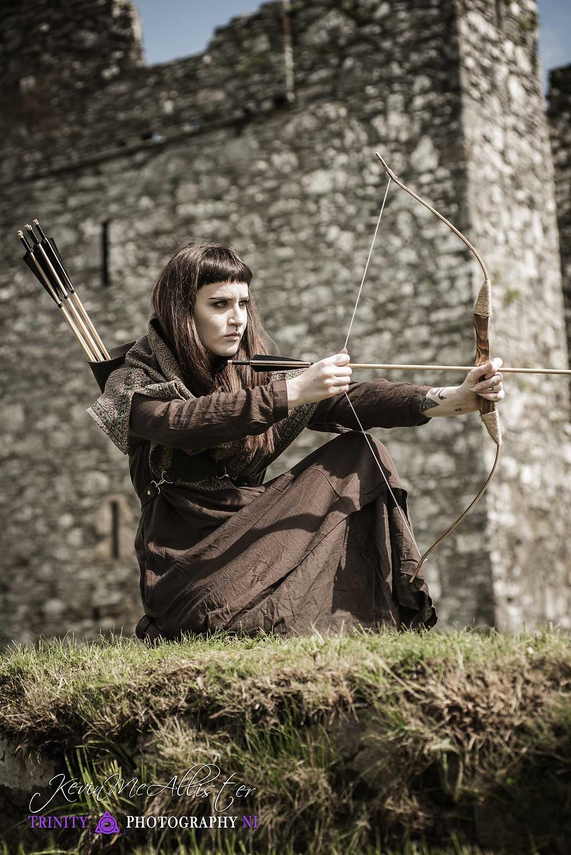 medieval archer at a irish castle