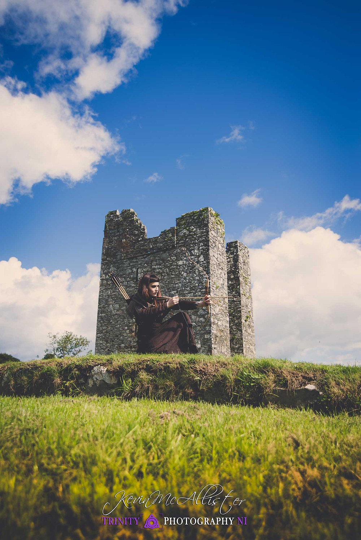 medieval Archer Auldleys castle ireland