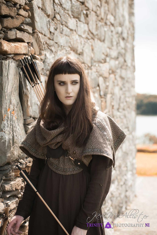 female medieval Archer in ireland