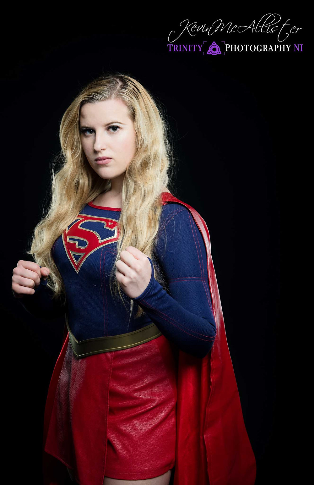 supergirl getting ready to fight