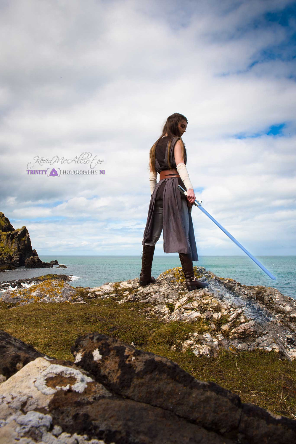 cosplayer as rey north coast of antrim ireland