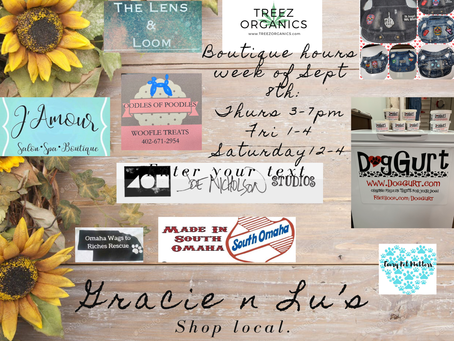 Boutique Hours week of 9-8-20
