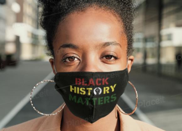Black History Matters Mask
