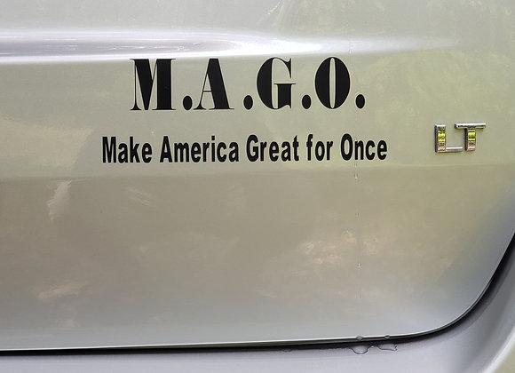 M.A.G.O. bumper/laptop sticker