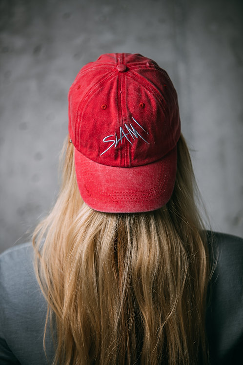 SLAM! Washed Coral Twill Cap