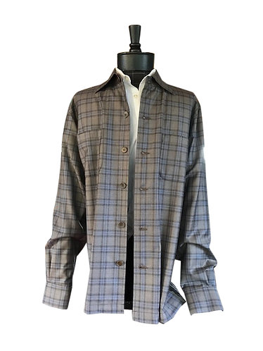 Taupe Plaid Woodland
