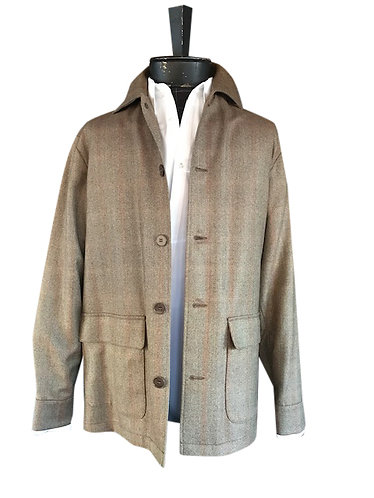 Theron Shirt Jacket Butterscotch plaid