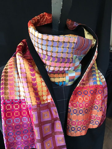 One of a kind Opera scarf Patchwork Silk and Cashmere