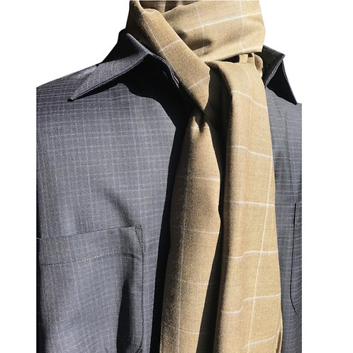 Tan olive plaid scarf