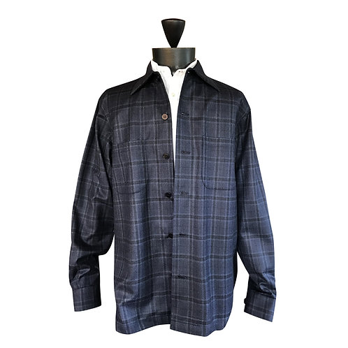Navy Woodland Window pane shirt