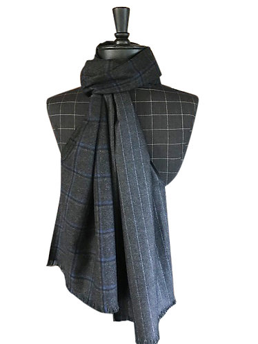 Oxford grey two part scarf