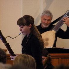 Playing baroque bassoon at a LAB concert