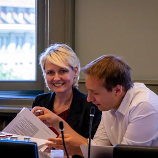 En séance de commission avec mon collègue Philippe Nantermod