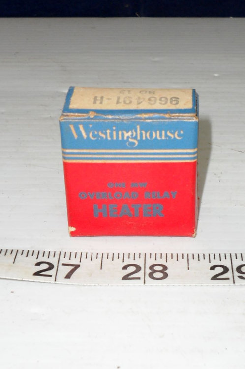 Westinghouse Overload Relay Heater
