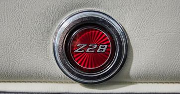 CAMARO Z28 BLEU CLAIR - logo interieur Z