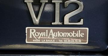 JAGUAR XJS V12 BLEU - detail chrome V12.