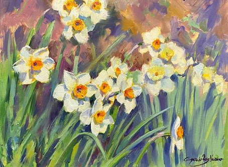 """""""Daffodils"""" Oil Demo"""