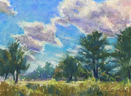 """""""In the Clouds"""" Pastel Painting Demo"""
