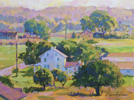 """""""Rural Pennsylvania"""" Oil painting demo with limited palette"""