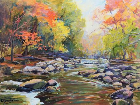 """""""Fall Colors in Rock Creek Park"""" Oil Demo"""