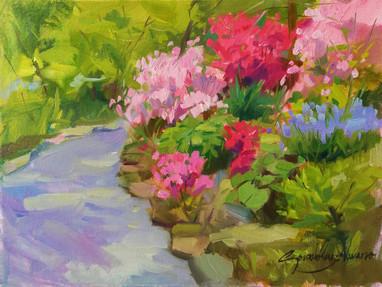 Azaleas and Hyacinths