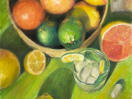 """""""Citrus Passion"""" Pastel Demo"""