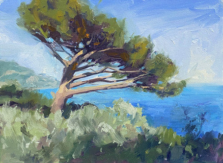 Oil Demo: Pine tree