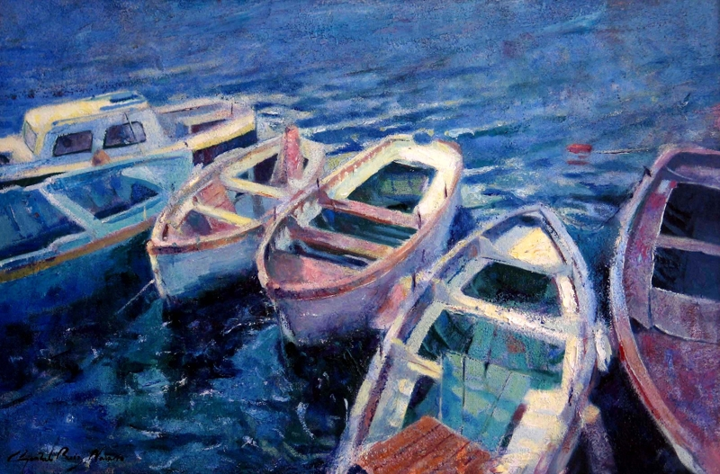 Barcas junto al castel dell'ovo_2004_O-L_81x54.jpg