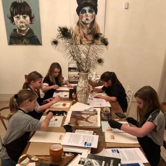 Schildercursus voor kinderen vanaf 9 jaar