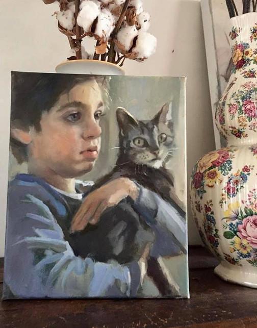 Danielle Rink maakt naast het lesgeven olieverf portretten in opdracht! Neem voor vragen of wensen vrijblijvend contact op!