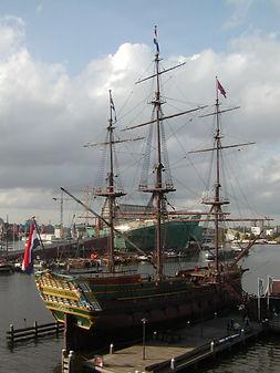 オランダ海洋博物館 帆船3.JPG