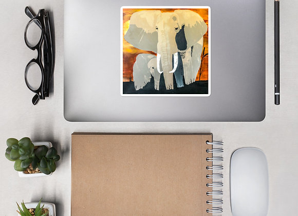 Bubble-free Elephant Stickers