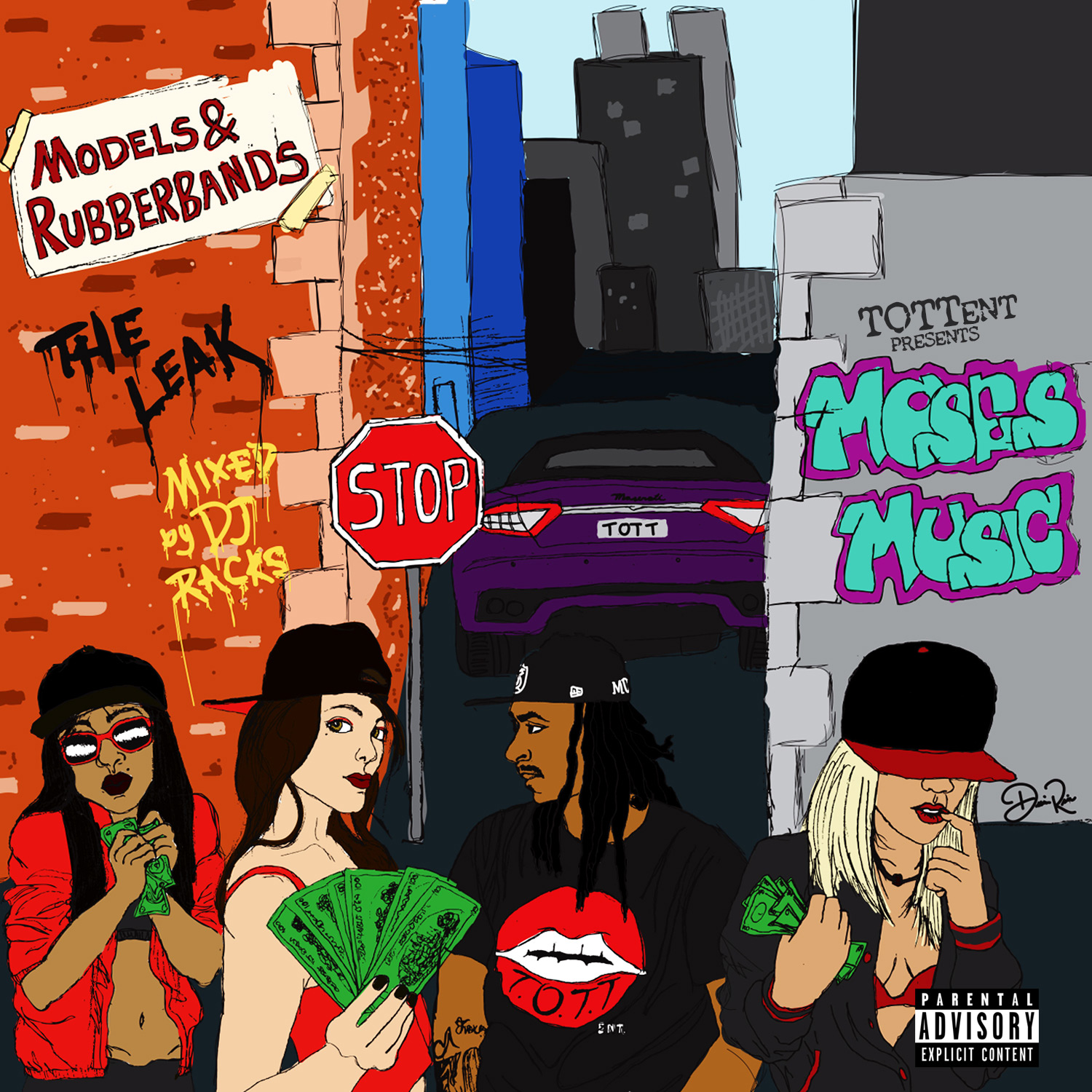 models and rubberbands moses music