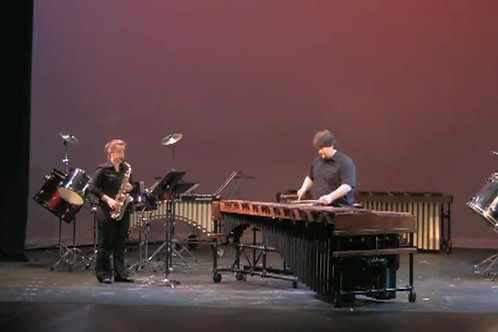 Gone... for alto saxophone and percussion
