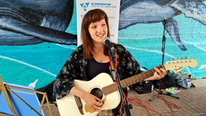 Busking on Southend High Street