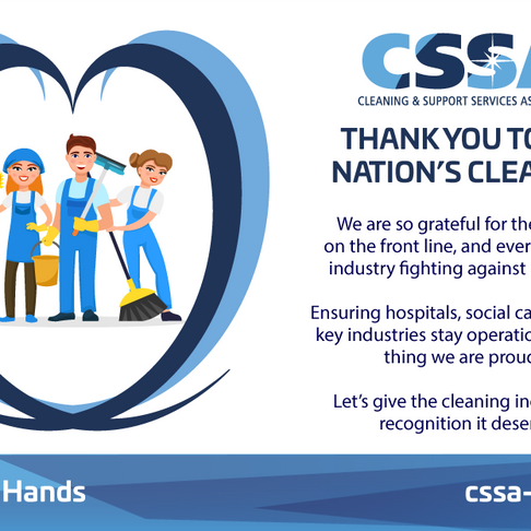 Thank you to the nation's cleaners...