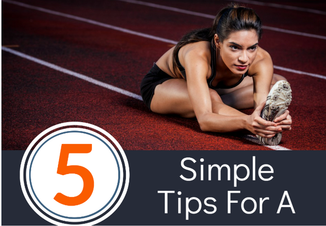 5 Simple Tips For A Healthy & Happy  LIFESTYLE For Athletes