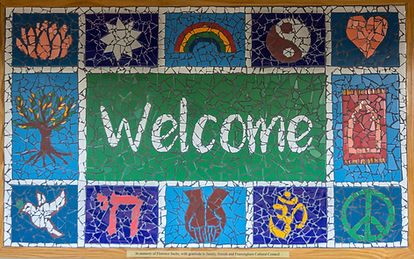 Welcome mosaic,multifaith