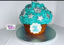 A 1st Birthday cake smash cake! Theme_ P